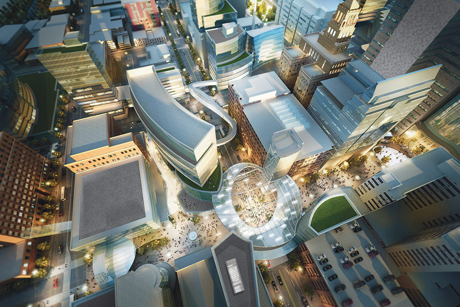 Destination-Medical-Center_Render-Ext-Aerial-Heart-of-the-City_Courtesy-Perkins-Eastman